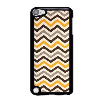 YELLOW BROWN CHEVRON Pattern iPod Touch 5 Case Cover