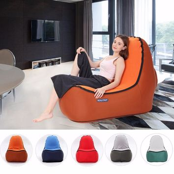 Indoor & Outdoor Hangout Inflatable Air Lounge Sofa Chair Living Room Bean Bag Lounger Camping Hiking Fishing Chairs Garden Sofa