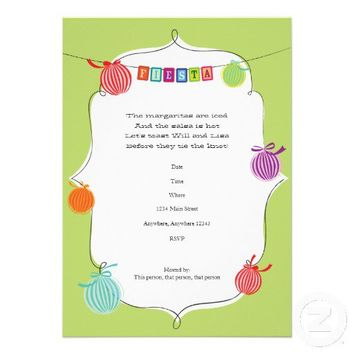 Fiesta Margarita Mexican Birthday Party Invitation from Zazzle.com