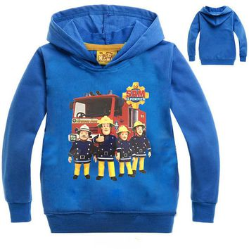 Z&Y 2-14Years Costume Firefighter Fireman Sam Clothes Nova Kids Coats Manteau Enfant Garcon Hiver Casaco Infantil Menino NO7646