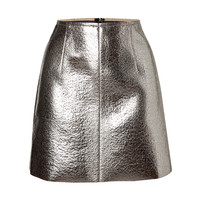 MSGM - Coated Wool Metallic Mini Skirt