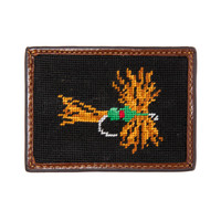 Fishing Fly Needlepoint Credit Card Wallet