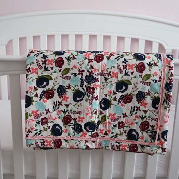Crib Quilt baby Boy and Girl  - Made in USA