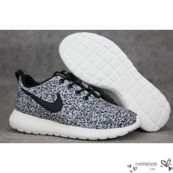 Nike Roshe Run Speckled White Womens Mens Shoes Sail Black