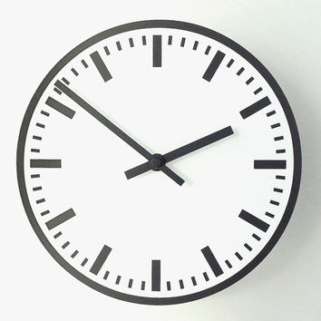 Station WALL CLOCK - Black