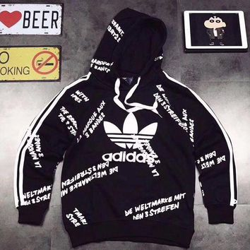 PEAPON ADIDAS Woman Men Fashion Print Hoodie Top Sweater Pullover