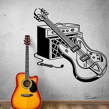 Wall Sticker Vinyl Decal Electric Guitar Rock Music Pop Decor Unique Gift (ig1861)