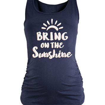 Belly Love Navy 'Bring On The Sunshine' Maternity Tank