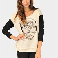 Skull Beats Sweatshirt - Taupe at Necessary Clothing