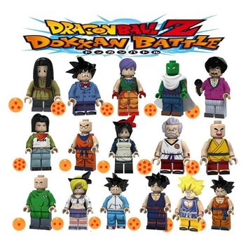 Legoing Dragon Ball Goku Krillin Lunch Son Gohan Wu Taidou Mr. Satan Piccolo Building Blocks Figures Toys for Children Gifts