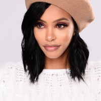Beauty And The Babe Beret - Camel