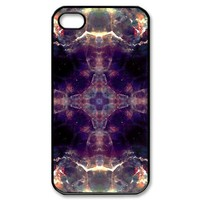 Mandala Hard Black Cover Case for Apple Iphone 4 and Iphone 4S 2014Iphone4/4SCase-574