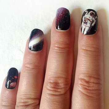 Nail Decals Space is the Place for Galaxy Nails by IHeartNailArt