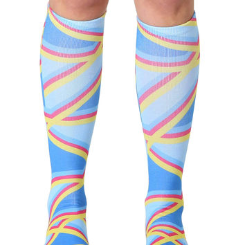 Geo 4 Knee High Socks