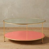 Lacquered Round Coffee Table by Anthropologie