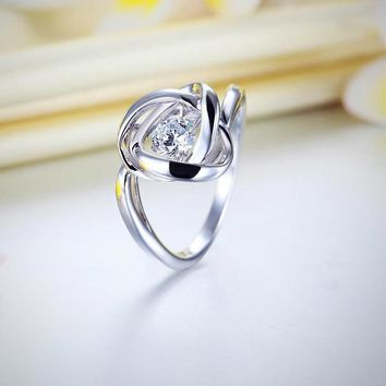 Dancing Stone Woven Sterling Silver Ring