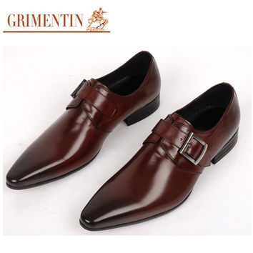 wedding genuine leather mens shoes black brown fashion Italian male shoes