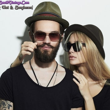 Mystery Hat & Sunglasses / Hipster Cool Grunge Rock-Star!!