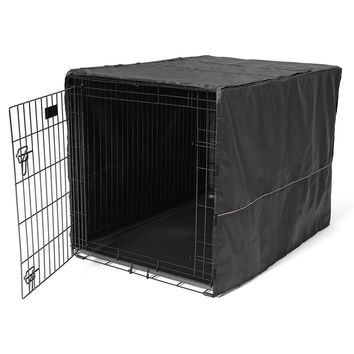 Polyester Crate Privacy Security Cover for Wire Cages 42 Inch Black