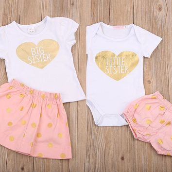 Big Sister, Little Sister Family Matching 2 Piece Set