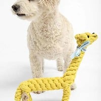 Jax & Bones Giraffe Rope Dog Toy- Yellow One