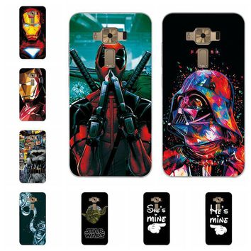"""Deadpool Dead pool Taco Charming  Spiderman Case Coque For Asus Zenfone 3 ZE520KL Soft TPU Cases Fundas For Asus 3 ZE520KL Back Cover Capa 5.2"""" AT_70_6"""