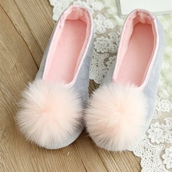 Hot Sale Women Indoor Wear Shoes Home Slippers Sweet Looking Two Colors Spring Autumn Wear Fashion  Style Comfortable Wear