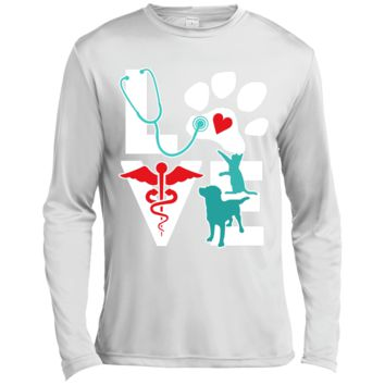 Veterinarian Love Cat and Dog Veterinary Long Sleeve Moisture Absorbing Shirt
