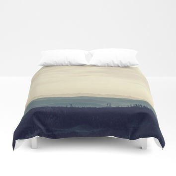 Blue mountains Duvet Cover by Graf Photography