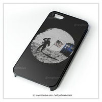 Amstrong In Moon With Tardis Police Box iPhone 4 4S 5 5S 5C 6 6 Plus , iPod 4 5 , Samsung Galaxy S3 S4 S5 Note 3 Note 4 , HTC One X M7 M8 Case