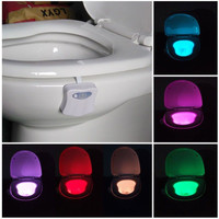 8 Colors adjustable Bathroom LED Toilet Seat Light Auto-sensing Motion Activated Night Lamp 8 Colors adjustable  LED