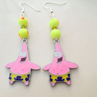 Patrick Spongebob Squarepants Earrings in Pink or Yellow