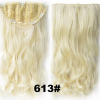 Bath & Beauty 7 Clip in Elastic Cap Wig Curly hair synthetic hair extension hairpieces wavy slice curly hairpiece SCH-888 613#,Hair Care,fashion Cosplay ombre 1PCS