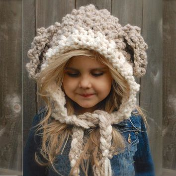 Korean Children Handcrafts Knit Winter Hats [72080785423]
