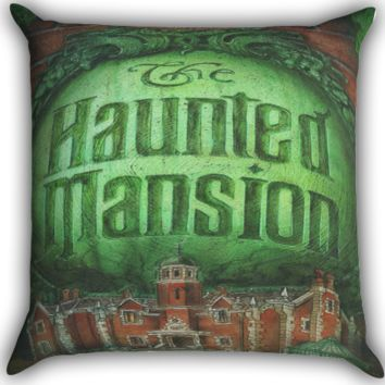 The Haunted Mansion Logo Zippered Pillows  Covers 16x16, 18x18, 20x20 Inches
