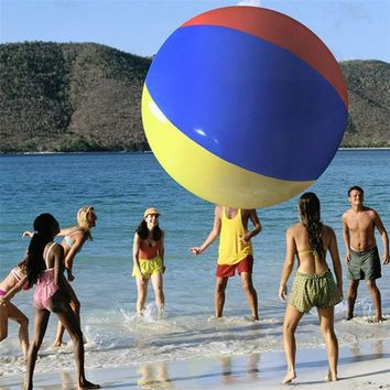 Giant Inflatable Three-Color Party Beach Ball