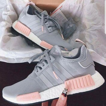 shosouvenir £ºADIDAS Women Running Sport Casual Shoes NMD Sneakers GREY