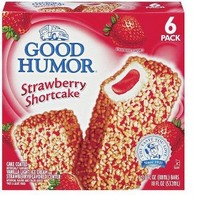 Good Humor Strawberry Shortcake Ice Cream Bar 6 pack
