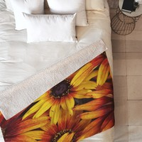 Shannon Clark Sunshine Petals Fleece Throw Blanket