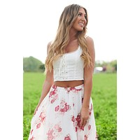 Sweet Personality Crop Top (White)