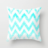 zig-zag  Throw Pillow by Marianna Tankelevich