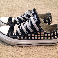 New Studded Converse by DonishDesigns on Etsy