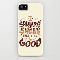 I am up to no good iPhone & iPod Case by Risa Rodil