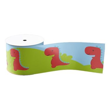 Cute Dinosaur themed Party Grosgrain Ribbon