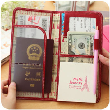 Fashion Passport Holder Business Leather Credit Card Holder Case Ticket Holder