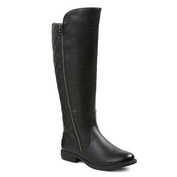 Women's Remy Quilted Zipper Riding Boots - Mossimo Supply Co.