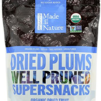MADE IN NATURE: Organic Tree Ripened Plums, 6 oz