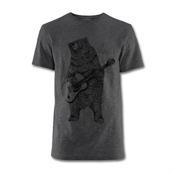 Ed Sheeran Guitar Bear Charcoal T-Shirt. Buy online, http://www.edsheeran.com/