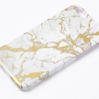 Missguided - Gold Marble iPhone 6 Case