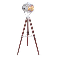 Ahoy Floor Lamp Chrome/Cherry